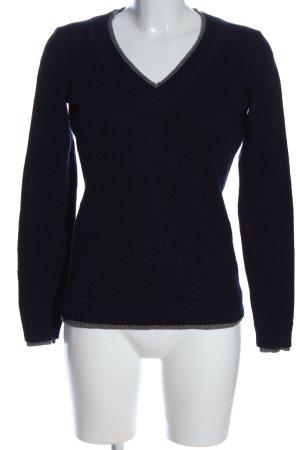 Montego V-Ausschnitt-Pullover blau Casual-Look