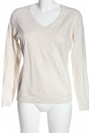 Montego V-Neck Sweater natural white flecked casual look
