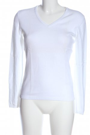 Montego V-Ausschnitt-Pullover weiß Casual-Look