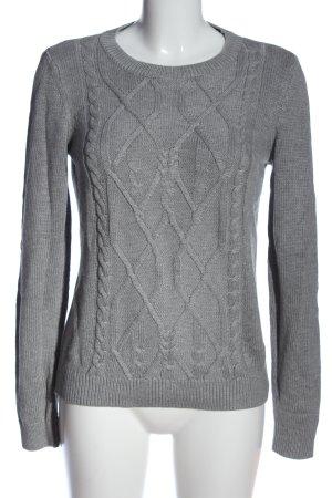 Montego Maglione intrecciato grigio chiaro punto treccia stile casual