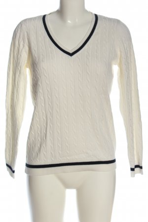 Montego Cable Sweater white casual look
