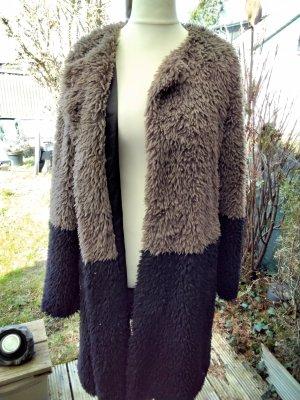 Montgomery Długi płaszcz czarny-taupe