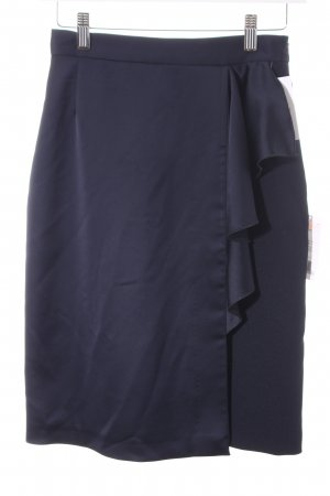 Monton Bleistiftrock dunkelblau Elegant