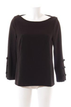 Monton Pullover schwarz schlichter Stil