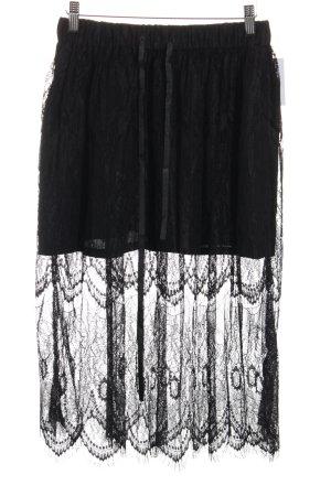 Monton Falda de encaje negro Pasamanería de encaje