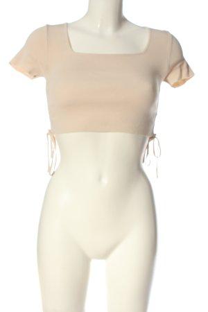 MOOCCI Camisa recortada nude look casual