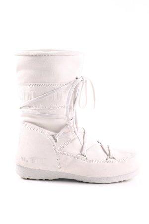 Moon boot Snowboots weiß Schriftzug gedruckt Casual-Look