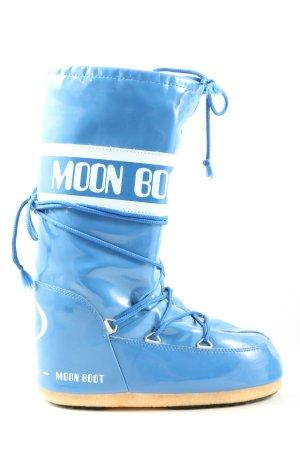 Moon boot Sneeuwlaarzen blauw-wit gedrukte letters casual uitstraling