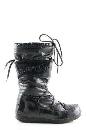 Moon boot Bottes de neige noir lettrage imprimé style décontracté