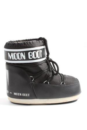 Moon boot Stivaletto invernale nero-bianco caratteri stampati stile casual