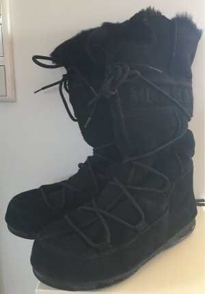Moon boot Fur Boots black suede