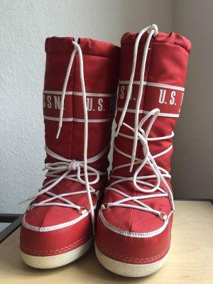 US Polo Botas de nieve rojo-blanco