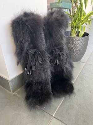 Laarzen met bont zwart