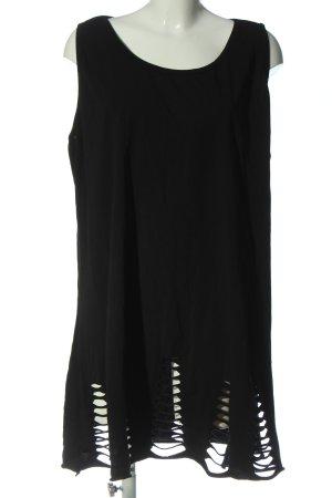 Moonshine Fashion Długa bluzka czarny W stylu casual
