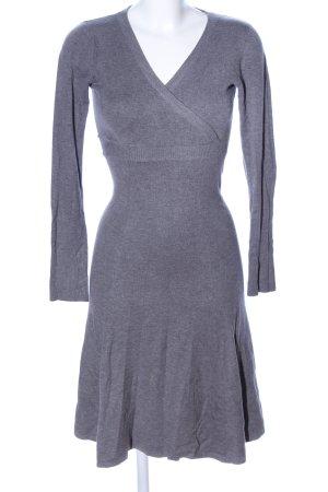 Moonstar Vestito di lana grigio chiaro puntinato stile professionale