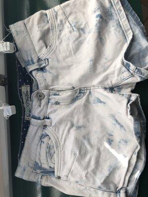 Sublevel Pantalón corto de tela vaquera azul celeste-azul acero