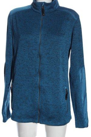 moorhead Fleecejacke blau-schwarz meliert Casual-Look