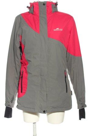 moorhead Outdoorjacke pink-hellgrau Motivdruck Casual-Look