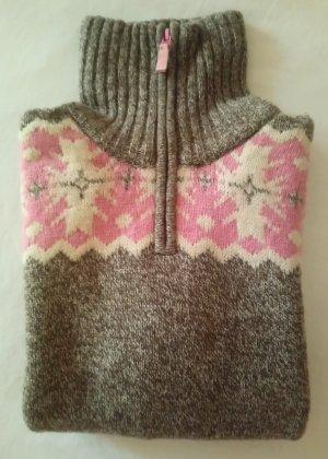 Pull norvégien multicolore laine vierge