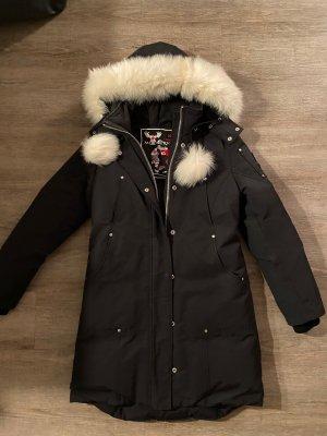 Mooseknuckles Manteau en duvet noir-blanc