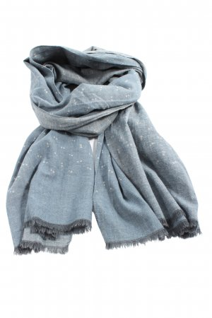 MOP Fringed Scarf light grey-white allover print casual look
