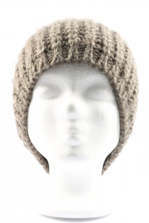 MOP Knitted Hat brown cable stitch casual look