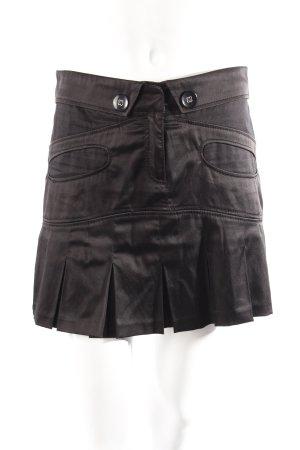 Moran Minirock glänzend-schwarz