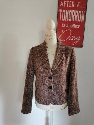 More and More Damen Jersey Tweed Blazer Jacket gemustert Größe 38 wie NEU
