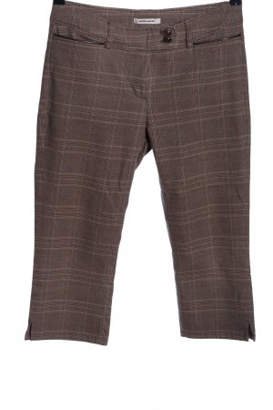 More & More 3/4 Length Trousers brown-nude check pattern casual look