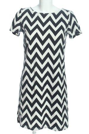 More & More Shirtkleid weiß-schwarz grafisches Muster Casual-Look