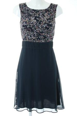 More & More A-Linien Kleid dunkelblau Blumenmuster