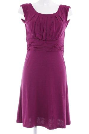 More & More A-Linien Kleid violett Casual-Look