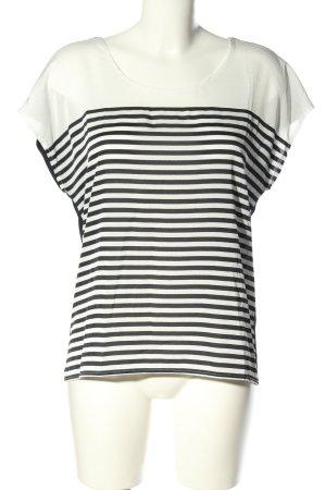 More & More ärmellose Bluse weiß-schwarz Streifenmuster Casual-Look