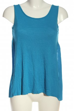More & More ärmellose Bluse blau Casual-Look