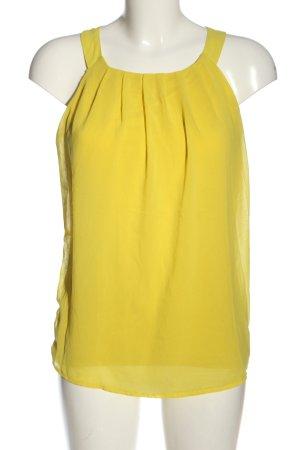 More & More ärmellose Bluse blassgelb Casual-Look
