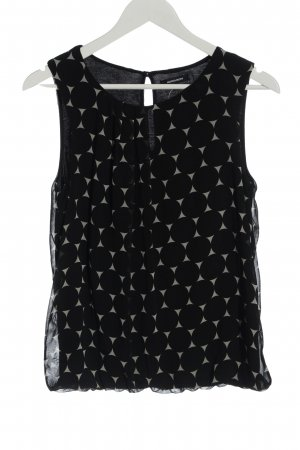 More & More Sleeveless Blouse black-light grey spot pattern casual look