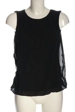 More & More ärmellose Bluse schwarz Casual-Look