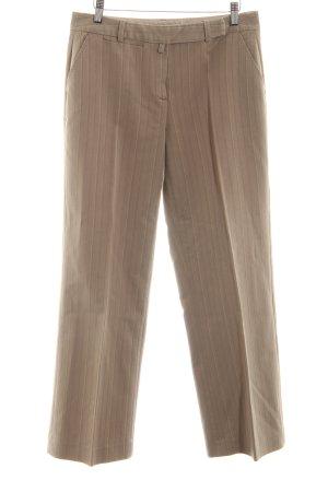 More & More Spodnie garniturowe brąz Wzór w paski W stylu biznesowym