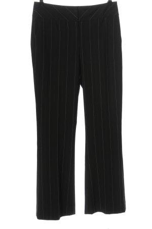 More & More Anzughose schwarz-weiß Allover-Druck Business-Look