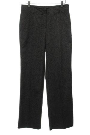 More & More Anzughose schwarz-weiß meliert Business-Look