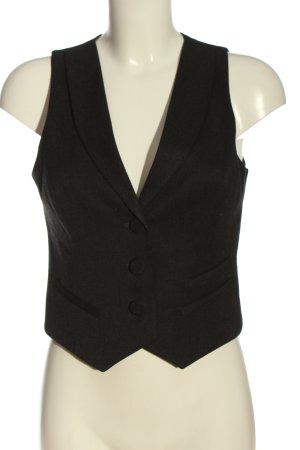 More & More Chaleco de vestir negro look casual