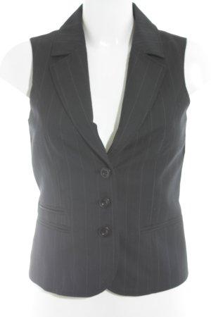 More & More Anzugweste dunkelblau-weiß Streifenmuster Business-Look