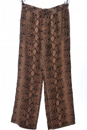 More & More Baggy Pants pink-schwarz abstraktes Muster Casual-Look