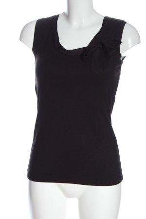 More & More Basic topje zwart elegant