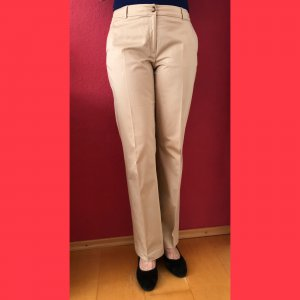 More & More Low-Rise Trousers beige cotton