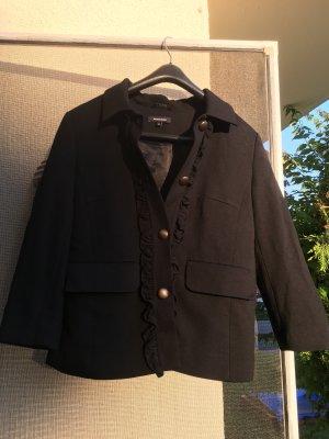 More & More Klassischer Blazer czarny Tkanina z mieszanych włókien