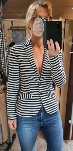 More & More Blazer in jersey nero-bianco