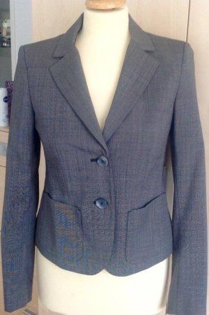 More & More Korte blazer grijs