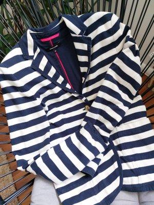 More & More Granatowa kurtka biały-ciemnoniebieski Bawełna