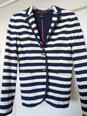 More & More Veste de marin blanc-bleu foncé coton
